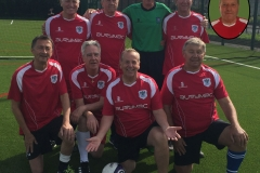 Bury Relics GMWFL September 2017 Back Row Left To Right: Tony Marsden, Gary Lomax, Bob Daniels, Dave Seel, Inset: Keiran Tilley. Front Row Left To Right: Charlie Nangle, John Bentley, Andy Quayle, Stuart Laight.