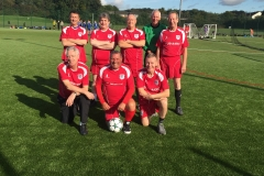 Bury Relics GMWFL October 2017 Back Row Left To Right: Charlie Nangle, Kevan Collins, Gary Lomax, Bob Daniels, Dave Seel. Front Row Left To Right: John Bentley, Keiran Tilley, Ken Buggie.
