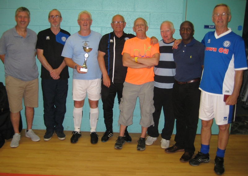 GMWF Over 60's Spring League 2018 Trophy Presentation Division 1 Winners Rochdale AFC Strollers