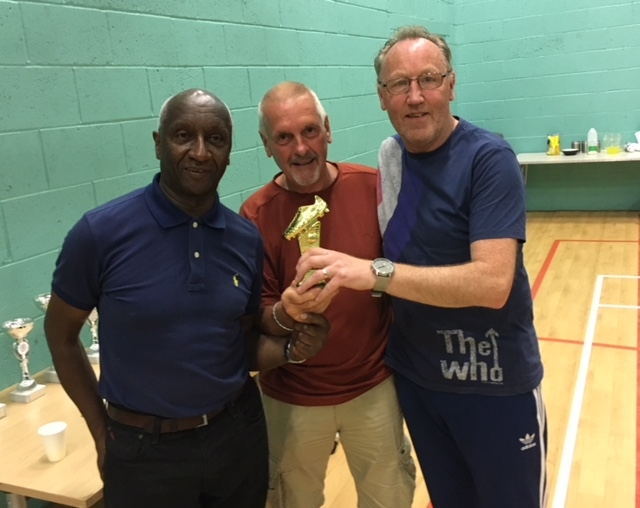 Val Mears (Rochdale AFC Strollers) & Mick Tarpey (Roach Dynamos) Joint Winners Of The Golden Boot At The GMWF Over 60's Spring League 2018