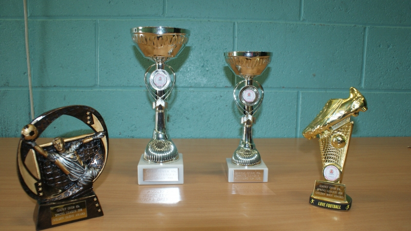 GMWF Over 65's Spring League 2018 Presentation Trophies