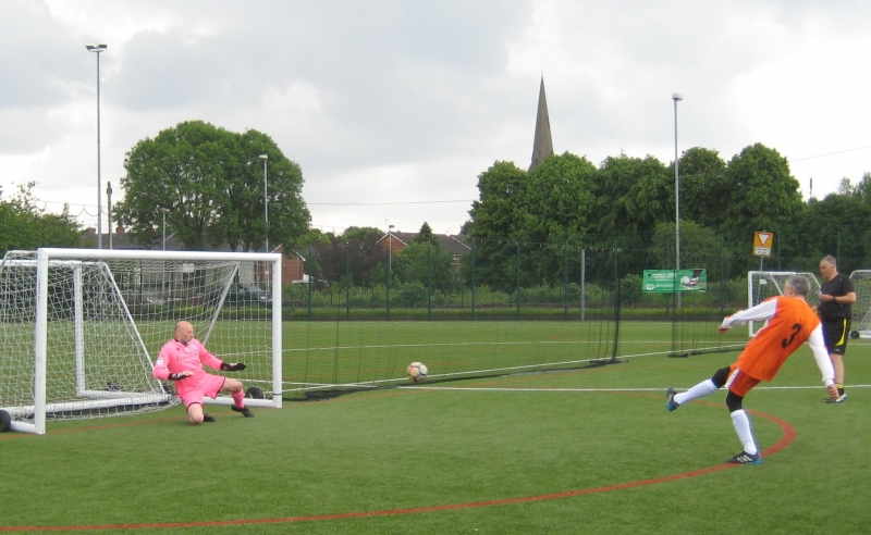 GMWF Over 70's Cup Tournament May 2018 Alan Thompson Saves In The Penalty Shootout