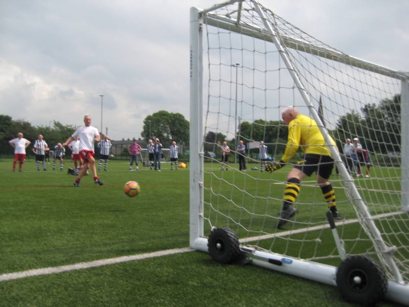 GMWF Over 70's Cup Tournament May 2018 Bill Charlton Scores In The Final Penalty Shootout