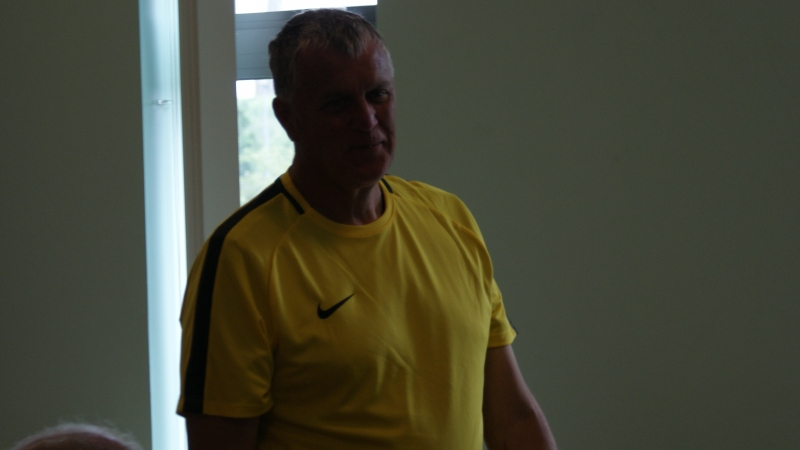GMWF Over 70's Cup Tournament May 2018 Referee Alan Graham