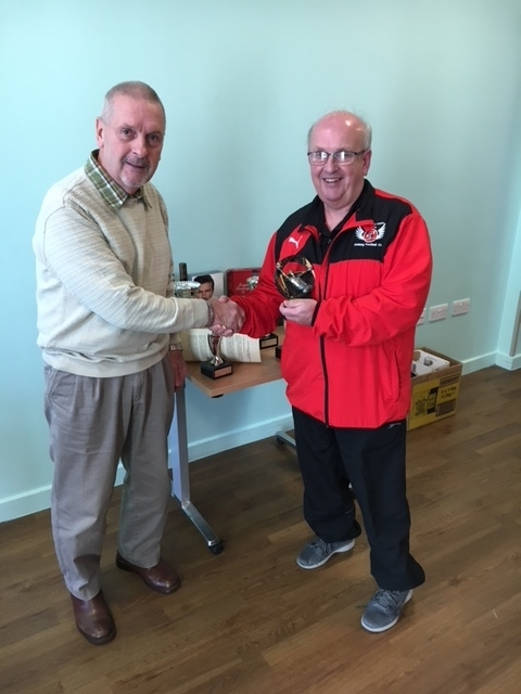 Pete Smith (Fleetwood Town Flyers) Receives The Golden Gloves Award At The GMWF Autumn League Dec 2017 Presentation