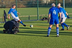 Rochdale AFC Strollers Warm Up Filmed By ARD German TV At The GMWF Autumn League Dec 2017