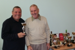 Keiran Tilley (Bury Relics) Receives The Division 3 Runners Up Trophy At The GMWF Autumn League Dec 2017 Presentation