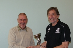 John Myatt (Wakefield Wanderers) Receives The Division 3 Winners Trophy At The GMWF Autumn League Dec 2017 Presentation