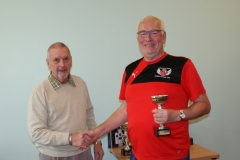 David Hirst (Fleetwood Town Flyers) Receives The Division 2 Runners Up Trophy At The GMWF Autumn League Dec 2017 Presentation