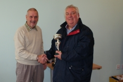 Les Mycock (AFC Blackpool Senior Seasiders) Receives The Division 2 Winners Trophy At The GMWF Autumn League Dec 2017 Presentation
