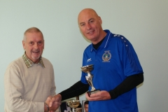 John Smith (Nash Amblers) Receives The Division 1 Runners Up Trophy At The GMWF Autumn League Dec 2017 Presentation