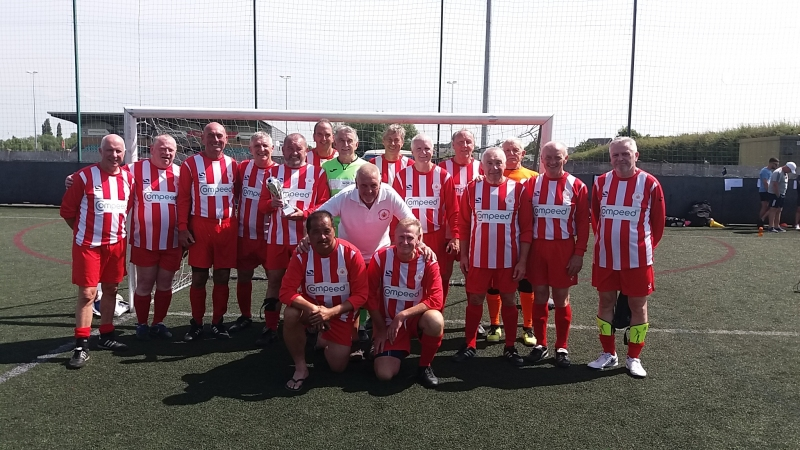 Manchester Corinthians Reds & Whites Nantwich 50s Prostate Cancer UK Tournament 04.07.19