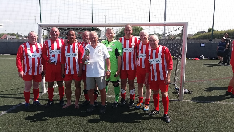 Manchester Corinthians Whites Winners Nantwich 50s Prostate Cancer UK Tournament 04.07.19