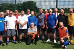 Manchester Corinthians Training Session 01.08.18 & 5th From Right, Dave Powell Chairman Of The Cheshire Walking Football League