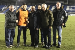 With The GMWF Autumn League Division 3 Runners Up Trophy At Bury FC 09.01.18