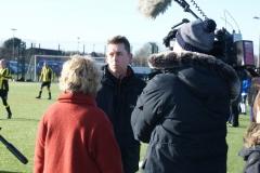 Paul Gardner Being Interviewed By ARD German TV At The GMWF Autumn League Dec 2017
