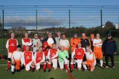 The AFC Blackpool Senior Seasiders & Fleetwood Town Flyers Teams Line Up