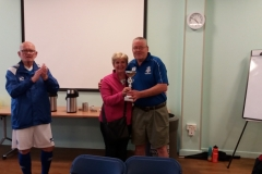 Niall O'Donnell (Wakefield Wanderers) Receives The Winners Trophy From Maureen Dawson
